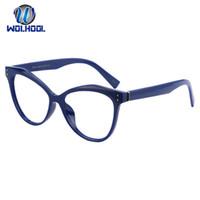 big framed glasses retro toptan satış-Drop Shipping Unisex Retro Büyük çerçeve Gözlük Büyük Boy Kedi Göz Gelgit Optik Gözlük Şeffaf Lens Göz Aşınma Çerçeve Gözlük