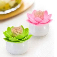 Wholesale lotus cotton bud resale online - Lotus Cotton Swab Box Bud Base Toothpicks Holder Home Storage Organizer