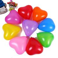 ingrosso valentines lattice palloncini-Love Heart Latex Balloon 100pcs Gonfiabile Decorazione di nozze Romantico 1.5g San Valentino Festa di compleanno Forniture per palloncini