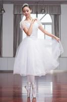 erwachsene schwan kostüm großhandel-2018 neue professionelle ballett schwanensee tutu schleier kostüm erwachsene ballett rock puff weiß klassische rock dress kostüm