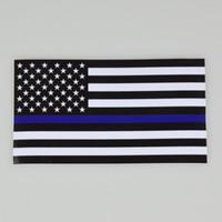 ingrosso linee degli stati uniti-BlueLine Stati Uniti d'America Bandiera della polizia autoadesivo sottile linea blu USA Flag Black Sticker Bandiera rossa linea Stati Uniti d'America Trasporto di goccia