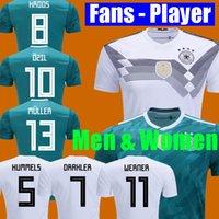 Wholesale germany red - Germany Soccer Jersey World cup 2018 MULLER OZIL KROOS HUMMELS WERNER shirt DRAXLER jersey football kit shirt fans player version men women