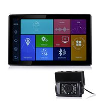 Wholesale hd bus - Udricare 9 inch Android Bluetooth Phone Car Truck Bus GPS Navigation WiFi Full HD 1080P DVR Dual Lens Rear View Camera DVR GPS