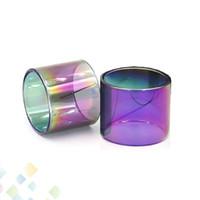 Wholesale rainbow color glasses resale online - Rainbow Color Glass Tube Fit TFV8 BABY TFV12 PRINCE BABY vape pen Brit One Mini Pyrex Replacement Glass Sleeve DHL Free