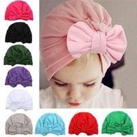 kız başlıklar fotoğrafları toptan satış-Bebek şapka Yumuşak ilmek şeker renk Bebek Kız Pamuk Beanie Caps Bebek Bahar Şapka fotoğraf dikmeler Çocuk Aksesuarları B5