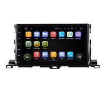 "Wholesale toyota dvd gps car radio - Android 8.0 Octa Core 10.1"" Car DVD Multimedia GPS for Toyota Highlander 2015-2017 With 4GB RAM Radio Bluetooth WIFI 32GB ROM"