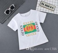kleines mädchen sommert-shirt großhandel-Kinder T-Shirt Jungen Mädchen T-Shirt Baby Kleidung Little Boy Mädchen Sommer Shirt Baumwolle T-Shirts Cartoon Kleidung