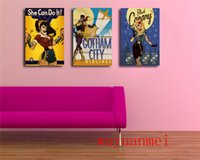 Wholesale batman painting resale online - DC Comics Girl Batman Wonder Woman Pieces Home Decor HD Printed Modern Art Painting on Canvas Unframed Framed