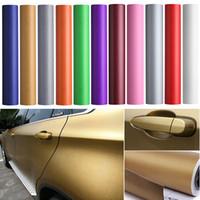Wholesale carbon fiber rolls wholesale - 1Pcs Car-styling 30*127cm Black 3D Carbon Fiber Vinyl Car DIY Wrap Sheet Roll Film Sticker Decal High Quality