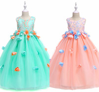 Wholesale real fairies - Cheap Fairy Girls Pageant Dresses Hand Made Flowers Sleeveless Bow Sash Back Cheap Flower Girls Dresses MC1733