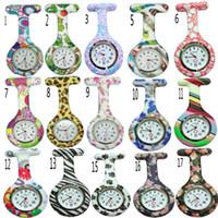 gummi krankenschwester uhren großhandel-53 Farben runden Clip Silikon Krankenschwester Rubber Pocket FOB Uhren Männer Frauen Docter hängen medizinische Uhr DHL-freies Verschiffen-Qualitäts-Geschenke