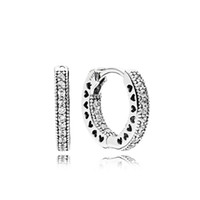 Wholesale silver earring cz for sale - 925 Sterling Silver CZ Diamond Earring with Original box Fit Eternal Pandora Jewelry Rose Gold Stud Earring Women Wedding Gift Earrings