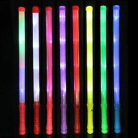 schaum führte leichte stöcke großhandel-Multi Color Concert Hand leuchten LED Foam Stick Zauberstäbe Rally Rave Cheer Batons Party Flashing Glow Stick Light Sticks