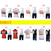 Wholesale cycling kits - 2018 uci pro team bahrain merida summer cycling jersey kits breathable Bicycle maillot MTB bike clothing Ropa ciclismo gel pad C2908