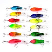 Wholesale shrimps lure online - 7cm Shrimp Designer Shape Pesca Mini Colorful Lures Hard Baits With Two Metal Hooks Tackle For Fishing Sports sb ZZ