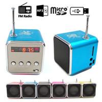 altavoz digital micro al por mayor-Altavoz bluetooth STD-V26 Mini Altavoz Portátil Digital LCD Sonido Micro SD / TF Radio FM Música Estéreo Altavoz para computadora portátil Teléfono móvil MP3