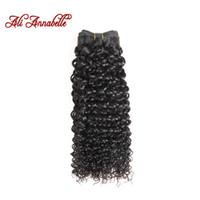 али человеческие волосы оптовых-ALI ANNABELLE HAIR Бразильские Кудрявые Вьющиеся Волосы 100% Человеческих Плетение Пучки Натуральный Цвет Реми Пучки Бесплатная Доставка