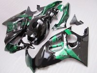 kit carenado negro 98 cbr f3 al por mayor-Kit de carenado ABS para HONDA CBR600F3 97 98 CBR600 F3 CBR 600F3 1997 1998 CBR 600 Green Fairing negro Carenados set + 7gifts HL09