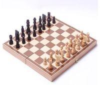conjuntos de xadrez de madeira venda por atacado-Dobrável de madeira internacional conjunto de peças de xadrez conjunto de tabuleiro jogo engraçado jogo de tabuleiro de xadrez jogo de tabuleiro portátil