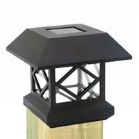 gartenleuchtenpfosten großhandel-Solar Zaun Post Cap Lichter Outdoor Garten Solar LED Post Deck Cap Auto Sensor Licht Landschaft Lampe