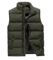 Wholesale mens vest jackets sleeveless for sale - Group buy FALIZA New mens winter sleeveless jacket and Slim Vest Mens Windproof Warm Waistcoat casual coats Plus Size XL MJ104