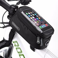 """Wholesale Mtb Frame Bag Pannier - Cheap bicycle ROSWHEEL 4.8"""" 5.7""""Cycling Bike Bicycle bags panniers Frame Front Tube For Cell Phone MTB Bike Touch Screen Bag"""