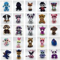Wholesale ty soft toy big eyes - Ty Beanie Boos Plush Stuffed Toys 15cm Wholesale Big Eyes Animals Soft Dolls for Kids Gifts ty Toys Big Eyes Stuffed plush KKA4108