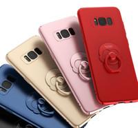 tampas do telefone do macaco venda por atacado-Caso de telefone celular para samsung s8 mais com suporte de macaco celular tampa traseira 30 pçs / lote