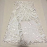 Wholesale Organza Fabric Lace - QDY1002 Melody Organza French Laces Fabric 3D Sequins Flower embroidery High Quality Tulle net Lace Soft tissue For Women