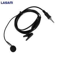 vértice walkie talkie al por mayor-Auriculares con micrófono LASAM para YAESU / Vertex Standard VX6R, VX7R, VX170, VX177, VXA700, VX120, VX127, HX471, VX460, etc. Walkie Talkie