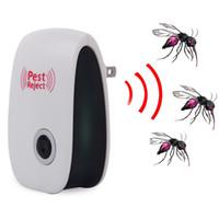 ultrasonik böcek kovucusu toptan satış-Sivrisinek Katili Haşere Reddetmek Elektronik Çok Amaçlı Ultrasonik Haşere Kovucu Sıçan Fare Kovucu Anti Kemirgen Bug Reddetmek Güvenli Reddetmek
