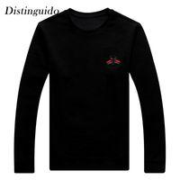 Wholesale Teens Hoodies - Spring New Style Bee Pattern Long Sleeves Pure Black Color Hoodies Vernal Man Outwear Springtime Teens Hoody MHS086