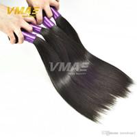 güzellik kraliçeleri saç uzantıları toptan satış-3 Paket Fiyatları VMAE Brezilyalı Düz Saç Bakire Işlenmemiş Insan Saçı Düz Bakire Saç Uzantıları Kraliçe Örgü Güzellik