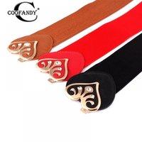 cinturones de corazon rojo al por mayor-Casual Corazón Mujeres Negro Elegante Decoración Cintura Ancha Moda Elástico Rojo Camel Cinturón Oscuro 80g Beige Hebilla