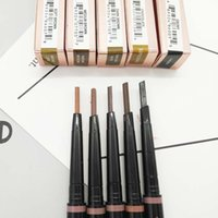 Wholesale automatic brush - 5 Colors Highlighter Makeup Waterproof Eyebrow Pencil With Comb Brush 2 in 1 Automatic Eye Brows Gel Maquiagem