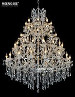Wholesale maria crystal chandelier light - Luxurious Large Crystal Chandelier Lighting Maria Theresa Crystal Light for Hotel Project Restaurant Lustres Luminaria Lamp