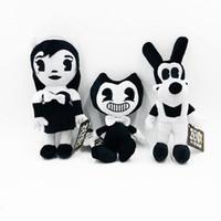 Wholesale figures dolls resale online - 30cm Bendy Boris Alice Angel Plush Doll Ink Machine Thriller Plush Doll Soft Stuffed Figure Kids Toy Novelty Items AAA148