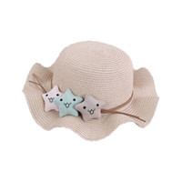 boné de chapéu de palha venda por atacado-Gilrs Sun capô chapéu de Palha  Estrela 09fbad94bee