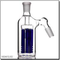 ingrosso cestino di cenere blu 14mm-Collettore a percussione a 6 bracci da braccio a 45 gradi Blu di alta qualità all'ingrosso 14mm per tubo dell'acqua