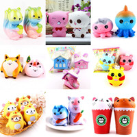 Wholesale phone rabbit - Squishy Doll rabbit huge squishies Slow Rising 15cm Soft Squeeze Cute Cell Phone Strap gift Stress children toys Decompression Toy