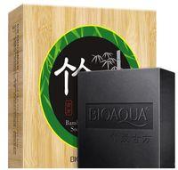 ingrosso bambù sbiancante cura della pelle-BIOAQUA bambù carbone a mano sapone pelle sbiancante sapone rimozione di acne trattamento di acne trattamento viso cura dei capelli cura della pelle del bagno