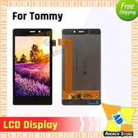 ingrosso wiko lcd-5pcs LCD di alta qualità per Wiko Tommy Display LCD Touch Screen Digitizer Full Assembly shiping gratuito