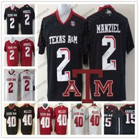 NCAA Texas A M Aggies  2 Johnny Manziel 40 Von Miller Mens Youth Womens  Kids Black Red White Stitched 2018 College Football Jerseys S-3XL 1970afdbf