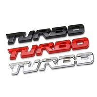 Wholesale ford ecosport - 3D Car Styling Sticker Metal TURBO Emblem Body Rear Tailgate Badge For Ford Focus 2 3 ST RS Fiesta Mondeo Tuga Ecosport Fusion