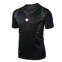 Wholesale t shirt fitness clothing compression resale online - Men s Compression Clothing Quick Dry Breathable T Shirt Fitness Hip Hop T Shirts Men Jersey T Shirts Mc0142