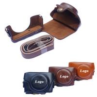 capa de câmera de couro sony venda por atacado-Novo pu leather camera case para sony rx100 rx100 ii iii rx100 iv v câmera saco capa com alça