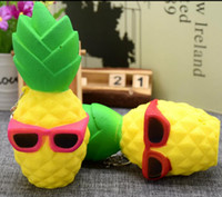 Wholesale fantasy decorations - Pineapple 16*6.9CM Squishy Sunglasses Decompression Jumbo Scented Simulation Squishies Decoration Kids Toy Glasses Squeeze Gift