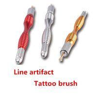 Wholesale Tattoo Pen Holder - New Arrival Tebori Microblading Eyebrow Line Pen Tattoo Machine For Permanent Makeup 3D Eyebrow Tattoo Manual Blade Holder 0207007