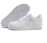 kadın ayakkabı boyutu 12 beyaz toptan satış-Force 1 af1 shoes MenWomen Için CORK Yüksek Kalite Bir 1 Koşu Ayakkabıları Düşük Kesim Tüm Beyaz Siyah Renk Casual Sneakers Boyutu ABD 5.5-12