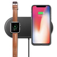 relógio motorola venda por atacado-Luxo 2 em 1 carregador sem fio usb rápido carregamento adaptador de telefone para apple watch iwatch 3 2 iphone x 8 além de samsung s9 s8 nota 7 8